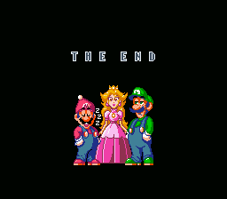 Super Mario Brothers 2 Deluxe - Ending  - Hee, Hee. Mario Fall Asleep. - User Screenshot