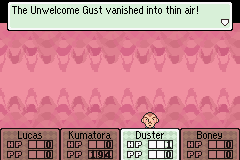 Mother 3 (english translation) - Battle  - i thought that gusts ARE air... - User Screenshot