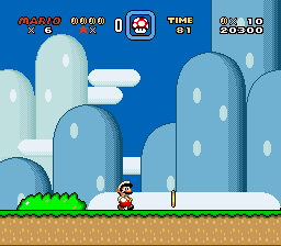Super Mario World - Level Yoshi - Yoshi