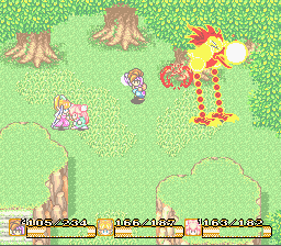 Secret of Mana - Battle  - Giant chick defeated - User Screenshot
