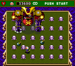 Super Bomberman 4 (english translation) - Battle  - Samurai Boss - User Screenshot