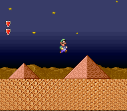 Super Mario All-Stars  Super Mario World - Level 2-1 -  - User Screenshot