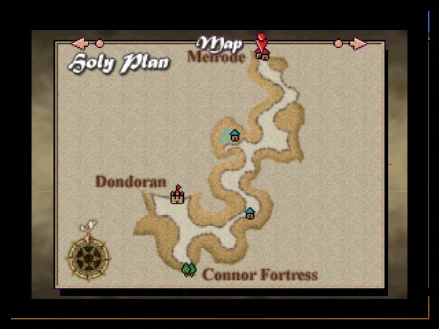 Quest 64 - World Map Holy Plains Map - Map of the Holy Plains typoed as Holy Plan. - User Screenshot