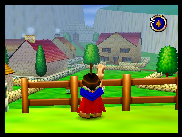 Quest 64 - Misc Melrode - Overlooking Melrode village; the first town. - User Screenshot