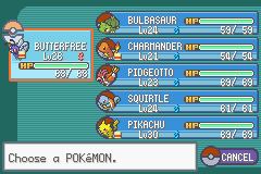 Pokemon Ash Gray (beta 3.61) - my team at ss.anne - User Screenshot