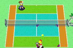 Mario Tennis Advance - Level Training - A training match - User Screenshot
