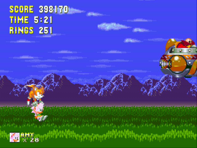 Sonic 3 & Amy Rose - Battle  - Super Amy and Tails vs Robotnik! - User Screenshot