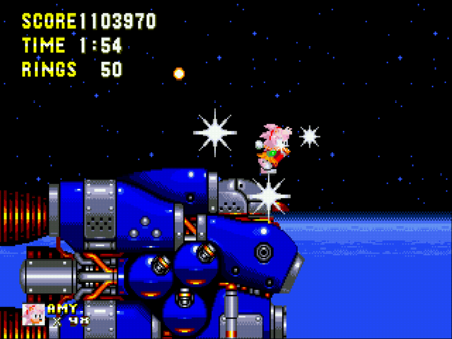 Sonic 3 & Amy Rose - Level Doomsday - Amy fighting the final Robotnik! - User Screenshot