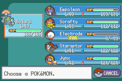 Pokemon - Yet Another Fire Red Hack - my team at silph co - User Screenshot