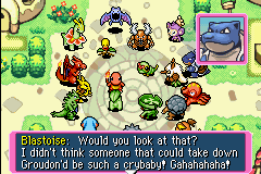 Pokemon Mystery Dungeon - Red Rescue Team - Cut-Scene  - actruly, she HAD to do absolutly nothing. - User Screenshot
