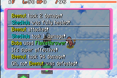 Pokemon Mystery Dungeon - Red Rescue Team - Battle  - the most dangerous thing here. >_ - User Screenshot