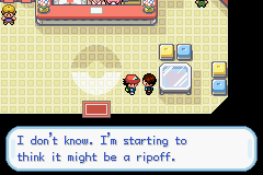 Pokemon Ash Gray (beta 3.61) - yes it was a ripoff he sold you a rock! - User Screenshot