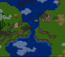 Breath of Fire II - Location  - on a boat dont quite recall the town - User Screenshot