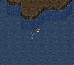 Breath of Fire II - Misc Scene - Turbo,Sten after fighting and landing in wate - User Screenshot