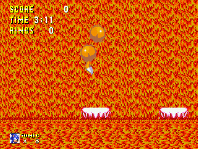 Sonic and Knuckles & Sonic 3 - Battle  - Two Tails?! - User Screenshot
