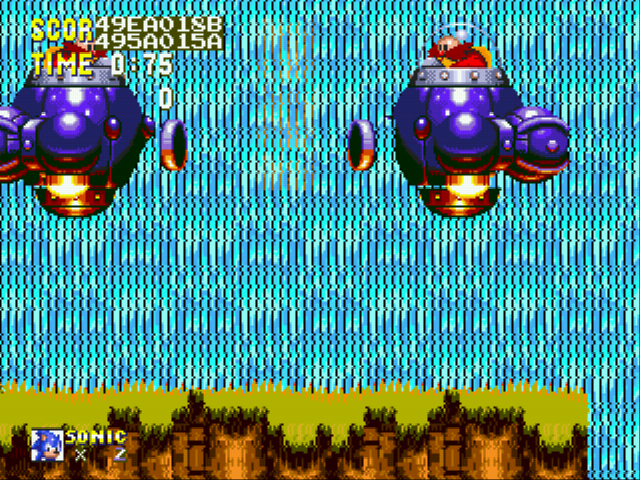 Sonic and Knuckles & Sonic 3 - Battle  - The 2 Robotniks do battle! - User Screenshot