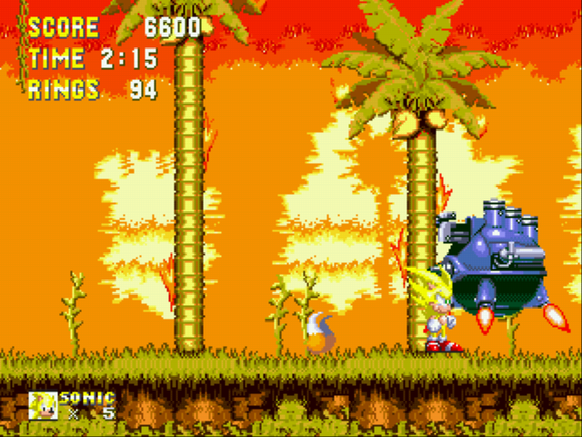 Sonic and Knuckles & Sonic 3 - Battle  - Super Sonic - User Screenshot