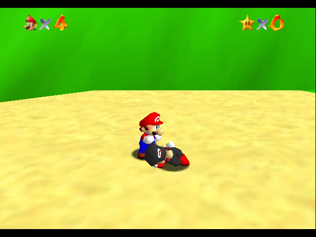 Super Mario 64 - Multiplayer - Level  - wake up!! - User Screenshot