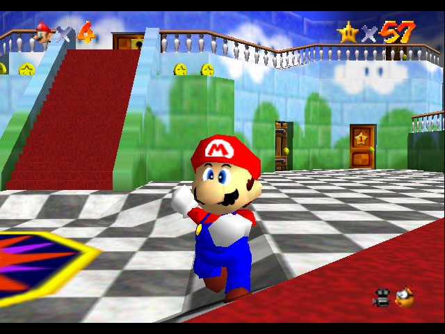 Super Mario 64 - Location Start of castle - you must DIE!!!!!!!!!!! mwuhahahahahahah!!! - User Screenshot