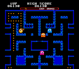 Clyde -Level :Wow, cool maze with blinking Pac-Men! - User Screenshot