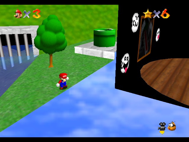 Super Mario 64 - Star Road - Mario is using his x-ray vision... - User Screenshot