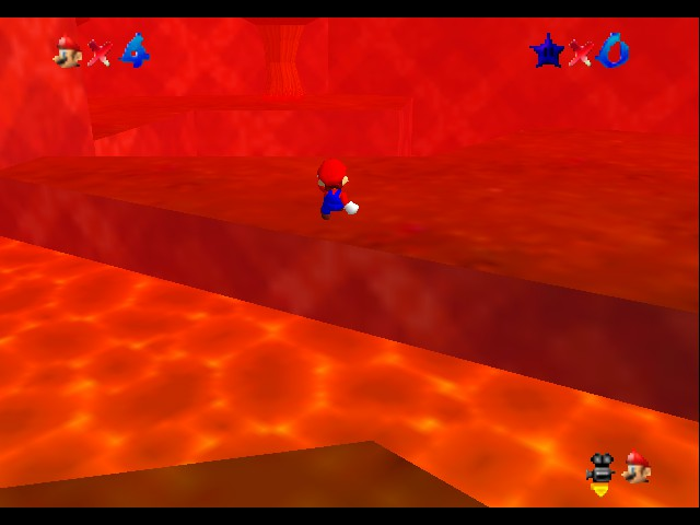 Super Mario 64 1.5 - Ztar Attack (C3 Demo) - Location Overworld - You can easily die here - User Screenshot