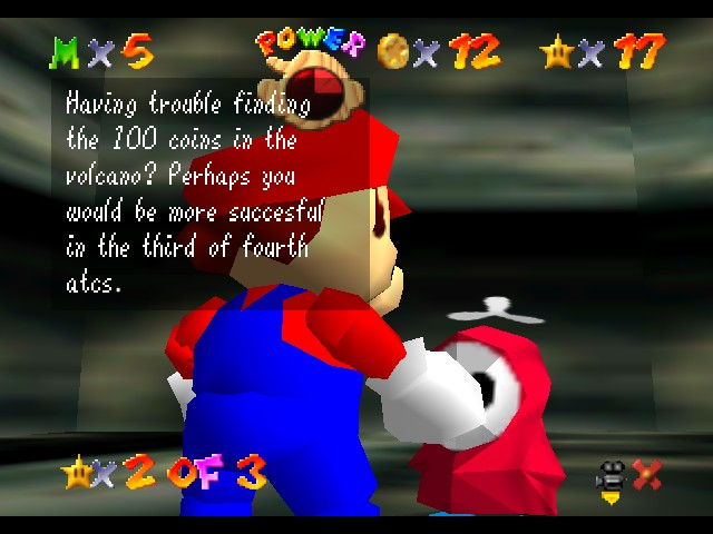 Super Mario 64 The Missing Stars - Y U no check ur spelin? XD - User Screenshot