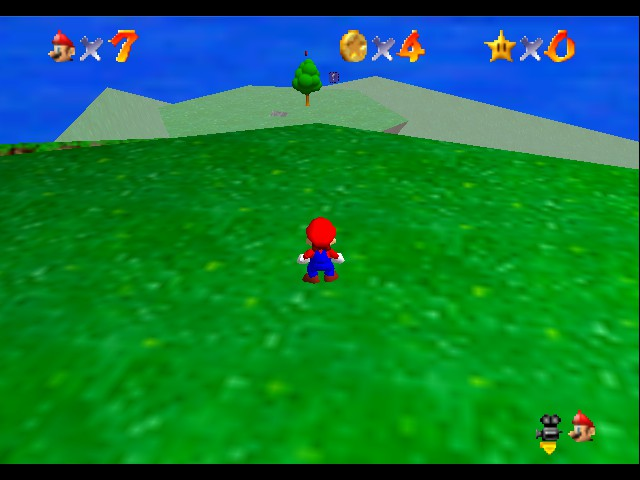Super Mario 64 - Level Bob-omb Battlefield - Do 2 long jumps, you will land on the island - User Screenshot