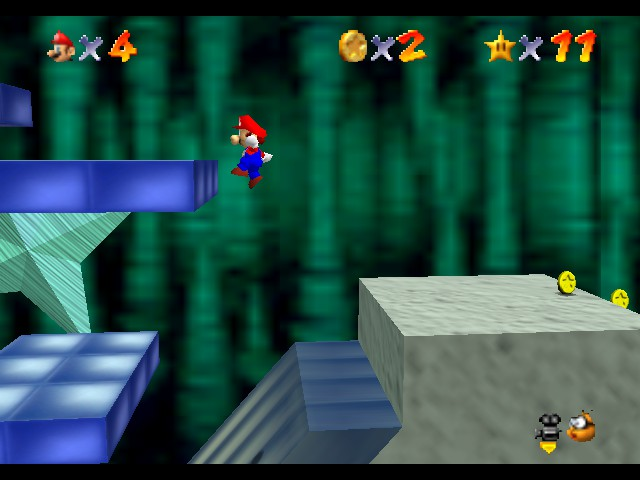 Super Mario 64 - Level Bowser In the Dark World - These platforms are fun - User Screenshot