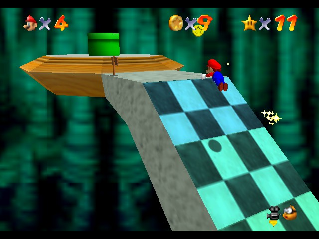 Super Mario 64 - Level Bowser In the Dark World - Who needs stairs - User Screenshot