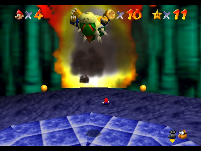 Super Mario 64 - Level Bowser In the Dark World - Ooh ouch I almost feel sorry - User Screenshot