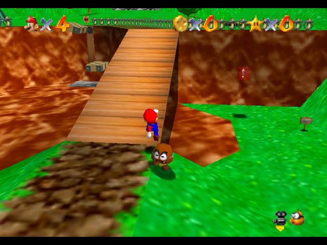 Super Mario 64 - Level Bob-omb Battlefield - Time to stomp on your head! - User Screenshot