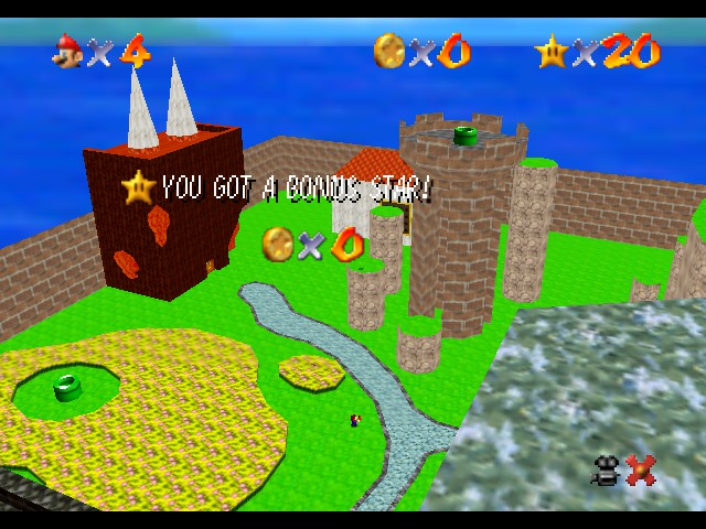Super Mario 74 - World Map  - What a great view! - User Screenshot