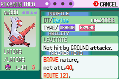 Pokemon Rebirth - Character Profile  - My first Legendary Pokemon - User Screenshot