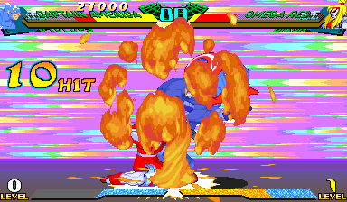 Marvel Super Heroes Vs. Street Fighter (Euro 970625) - Misc  - Face Plant! - User Screenshot