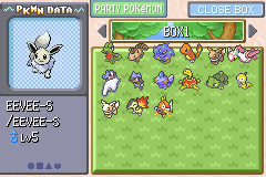 Pokemon Victory Fire (v1.91) - Menus  - The Eevee is weird O.o - User Screenshot