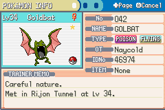 Pokemon Rijon Adventures - Character Profile  - Goldbat  - User Screenshot