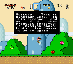 Super Mario World - Introduction  - lol mario standing on air - User Screenshot