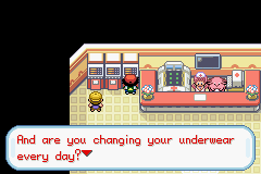 Pokemon Ash Gray (beta 3.61) - uh-oh I forgot to... - User Screenshot