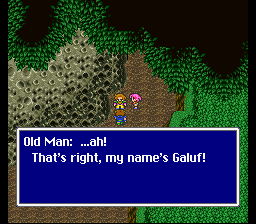 Bartz Klauser -Cut-Scene :I was certain it was Old Man - User Screenshot