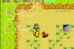 Pokemon Mystery Dungeon - Red Rescue Team - Battle  - some pokemon don
