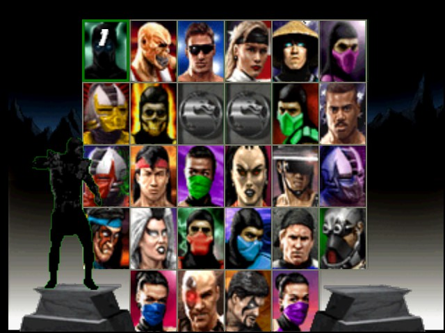 Mortal Kombat Trilogy - Character Select  - The title screen. - User Screenshot