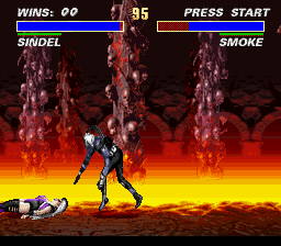 Ultimate Mortal Kombat 3 - Smoke: Stay down! - User Screenshot