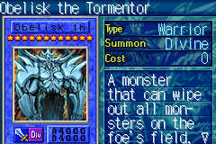 Yu-Gi-Oh! - The Sacred Cards - Character Profile God Card - Obelisk the Tormentor  - User Screenshot