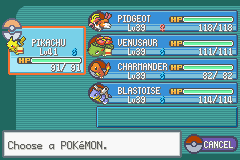 Pokemon Ash Gray (beta 2.5z) - My Team At End Of 2.5 Beta - User Screenshot