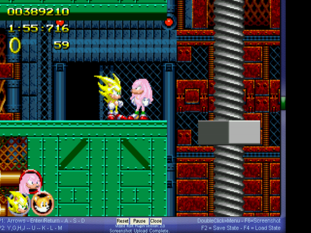 Sonic 2 Heroes - Misc spongebob - Yellow! Pink! - User Screenshot
