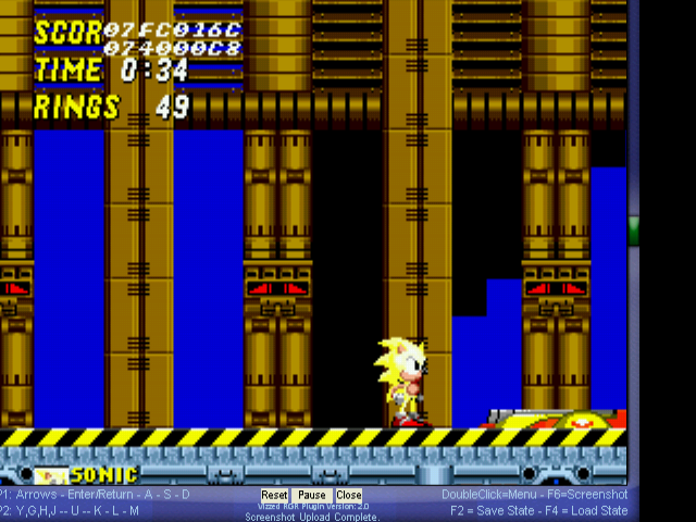 Sonic 2 Long Version - YELLOW sonic - User Screenshot
