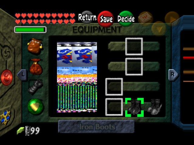 The Legend of Zelda - Ocarina of Time (Debug Edition) - Character Profile messed up - houston we have a problem - User Screenshot
