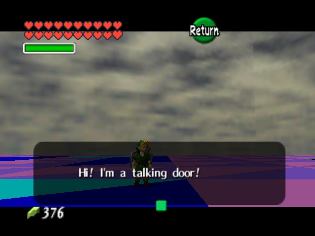 The Legend of Zelda - Ocarina of Time (Debug Edition) - Location  beta room - uh hello - User Screenshot