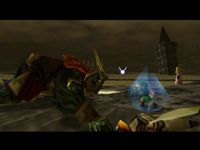 The Legend of Zelda - Ocarina of Time (Debug Edition) - Battle  - killed ganon as kid XD - User Screenshot